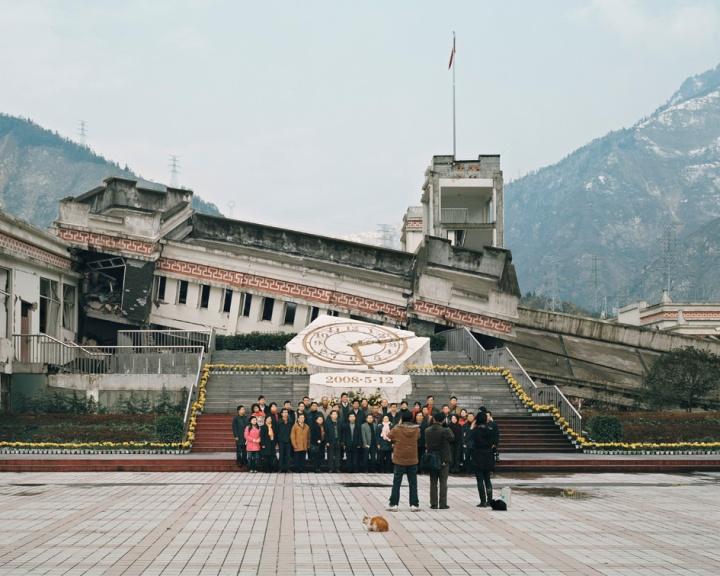Visite des ruines du tremblement de terre du Wenchuan dans la province du Sichuan (Chine).